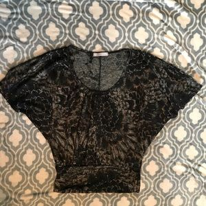 Charlotte Russe black and gold blouse size small